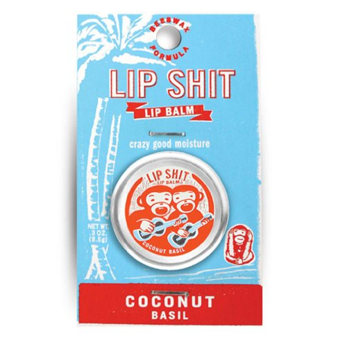 Blue Q Lip Shit Lip Balm Coconut Basil