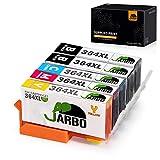 JARBO Remplacer pour HP 364XL Cartouche d'encre 1Set+1Noir Compatible avec HP...