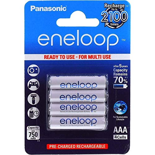 Panasonic eneloop AAA Microakku 750mAh NiMH 4er Pack, 4x 1,2V, NiMH