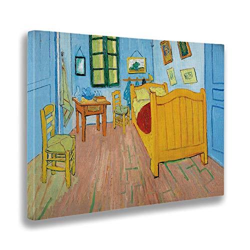 Giallobus - Cuadro - Vincent Van Gogh - La habitacion de Vincent en Arles - Estampado en Lienzo - Listo para Colgar - Varios tamanos 70x50 cm
