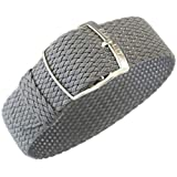 Eulit Panama 20mm Grey Perlon Watch Strap
