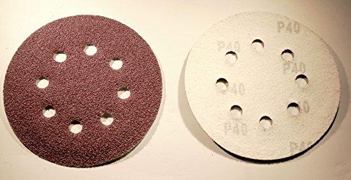 100 Blatt Klett Haft Schleifscheiben Exenter Schleifpapier Ø125 mm - Körnung 40