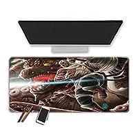 マウスパッド 30X80X0.3Cmアニメナルトゲーミングマウスパッドコンピューターマウスパッド耐久性のあるステッチエッジ滑らかな表面特別なテクスチャラバーベースイージーケアキーボードマウスマットオフィスデスクマットゲーマー (J)