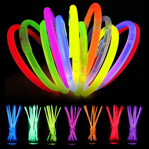 WOYA 100 unidades de fluorescencia Glow Sticks pulsera collar neón Lightstick Party Supply