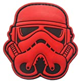 Imperial Army Stormtrooper Galaxy Trooper PVC Patch Military Tactical Clothing Accessory Backpack Armband Sticker Gift Patch Badge Decorative Patch PVC Patches (red)