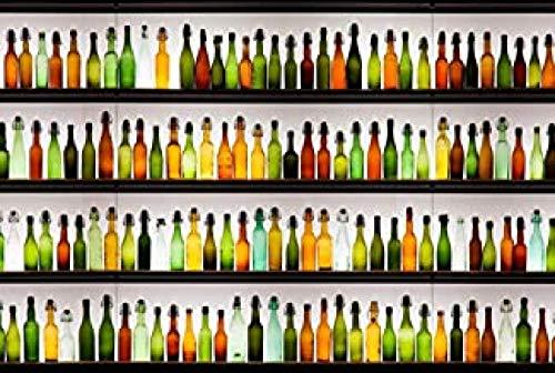 WOMGD® Glazen wijnfles Legpuzzels 1000 stukjes, houten puzzels, moeilijkheidsgraad Educatief spel Intelligentie Leren Educatief speelgoed