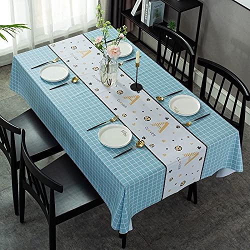sans_marque Mantel de mesa, cubierta de mantel lavable, utilizado para comedor de cocina, decoración de mesa de cocina 120* 180cm