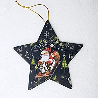 Zmond - Cute Santa Clause Bow Bell Christmas Tree Ornament Decoration Wooden Snowman Elk Hanging Pendant Christmas Decorat...