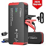 YABER Jump Starter, 2000A Peak 22000mAH 100W Portable AC Jump Starter Car Battery Jumper Starter (All Gas or 8.0L Diesel) Super Safe Car Booster Battery Charging Port