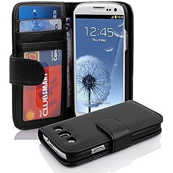 Cadorabo Custodia Libro per Samsung Galaxy S3 / S3 Neo in Nero Profondo - con 3 Vani di Carte e Chiusura Magnetica - Portafoglio Cover Case Wallet Book Etui Protezione