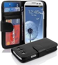 Cadorabo Custodia Libro per Samsung Galaxy S3 / S3 Neo in Nero Profondo – con 3 Vani di Carte e Chiusura Magnetica – Portafoglio Cover Case Wallet Book Etui Protezione