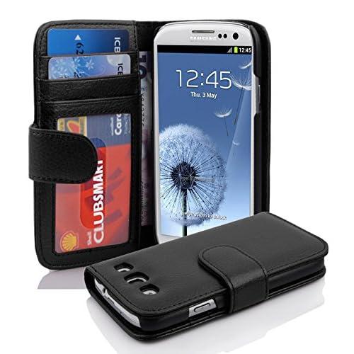 6ba9e0de788 Premium – Book Style Funda Estilo Cartera para Samsung Galaxy S3 y S3 Neo