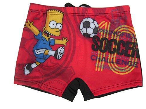 Bart Simpson Badeboxer (110 / ca. 5 Jahre, rot)