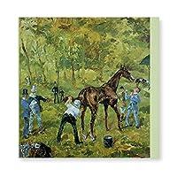 INOV オートゥイユ(1881)の記念品トゥールーズ-ロートレック キャンバス アートパネル アートフレーム フレーム アートボード 部屋飾り 壁掛け ソファの背景絵画 木枠セット(40*40cm)