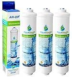 3x AquaHouse AH-UIF Compatible Filtre à eau universel pour réfrigérateur Samsung LG Daewoo Rangemaster Beko Haier etc Réfrigérateur Congélateur