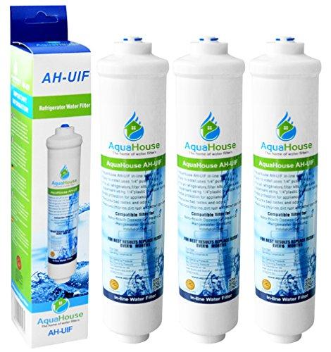 3x AquaHouse UIFH Kompatibel für Haier 0060823485A Kemflo Aicro Wasserfilter für Haier, CDA, Firstline, Frigistar Kühlschränke