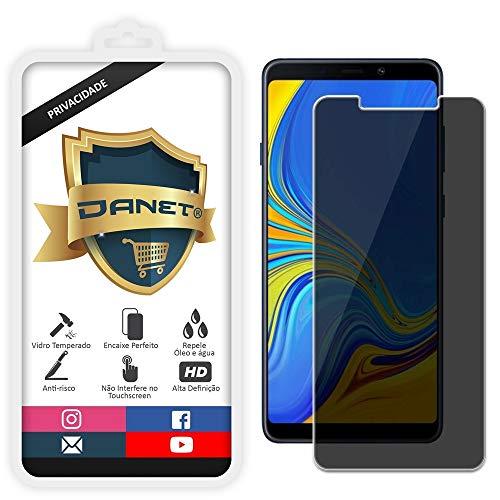 """Película De Privacidade Vidro Temperado Para Samsung Galaxy A9 2018 Tela 6.3"""" Polegadas Proteção Anti Impacto E Curioso Top Spy Premium 3d - Danet"""