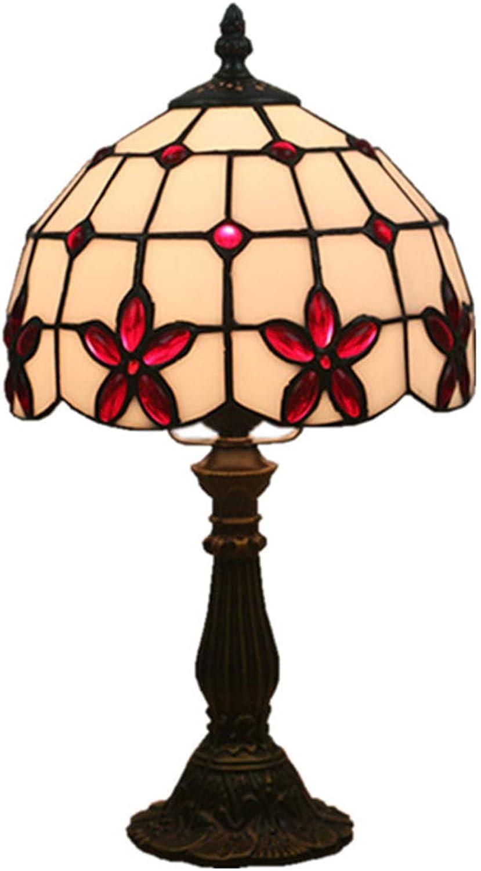 Xiuxiu Europäische Kreative Retro Glasmalerei Glasmalerei Glasmalerei Tischlampe Schlafzimmer Nachttischlampe Esszimmer Wohnzimmer Bar Mode Dekorative Tischlampe (Farbe   Resin) B07JG8CQCW | Niedrige Kosten  6955af