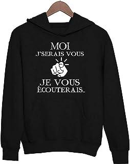 Citation Humoristique Kaamelott pour Les Fans de Perceval S/érie TV Hoodie dr/ôle et Fun imprim/é en France Sud Faut arr/êter Ces conneries Closset Sweat /à Capuche Nord