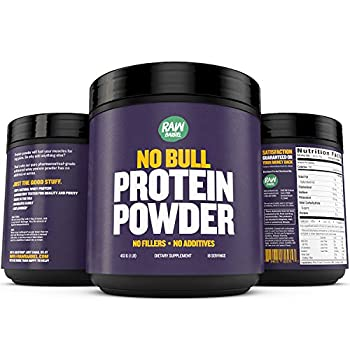 Raw Barrel s Unflavored Whey Protein Powder - 2lb Pure Instantized Concentrate Supplement - High Protein Low Carb & Natural - Includes Digital Guide and Recipe Book