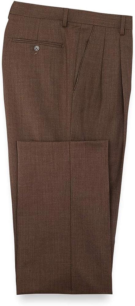Paul Fredrick Men's Classic Fit Double Pleated Suit Pants