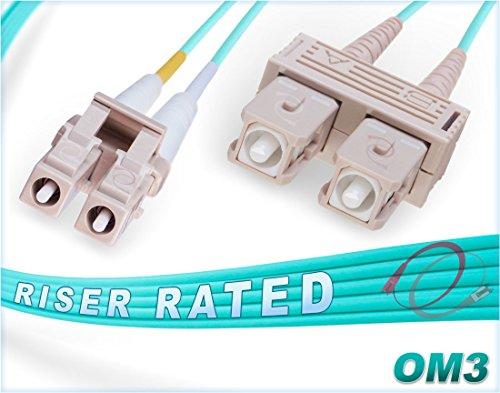 FiberCablesDirect - 1M OM3 LC SC Fiber Patch Cable | 10Gb Duplex...