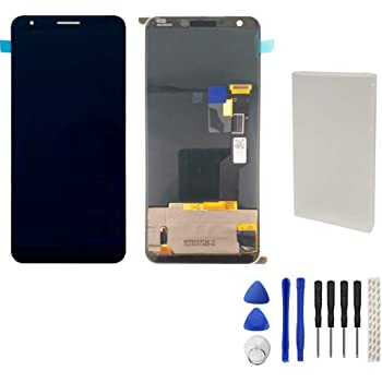 ATDA AYSMG LCD Screen and Digitizer Full Assembly for Google Pixel 4 Color : Black Black