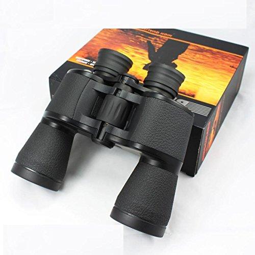 Binoculares de Alta Potencia Hd 20x50 Al Aire Libre de Visión Nocturna de Infrarrojos No Camping,Negro