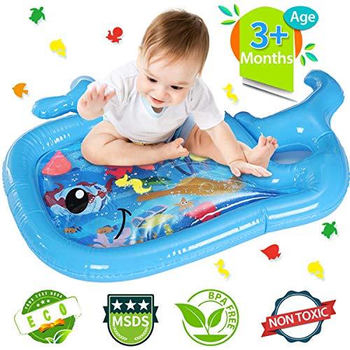 JOYXEON Wassermatte Baby Wasserspielmatte Babyspielzeug ab 3 6 9 Monaten, Spielsachen Aufblasbare Spieldecke, Geschenke für Babys,Tummy-Time,Muskeln aufzubauen,EN71 MSDS CPC geprüft, 0,30mm dick