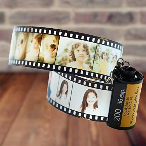 Xssbhsm Llaveros Personalizados Regalos creativos de los Pares de Foto Llavero Personalizado del Carrete de película Llavero Memorial (Gem Color : 10pcs Photos)