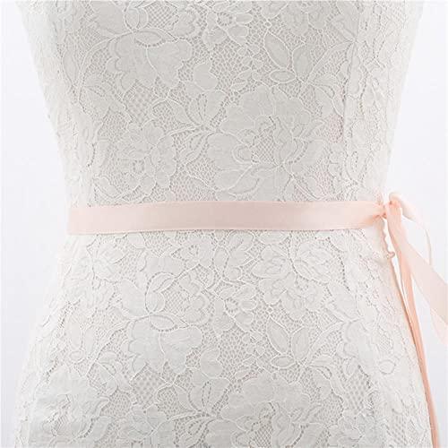 Cinturón de novia con apliques baratos, cinturón con cuentas de cristal para boda, cinturón de dama de honor, cinturón para accesorios, rosa bebé