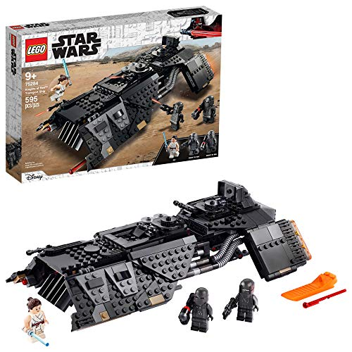 LEGO Star Wars: The Rise of Skywalker Knights of Ren Transport Ship 75284 Spacecraft Set, Features Knights of Ren and Rey Minifigures to Role-Play Star Wars Missions (595 Pieces)