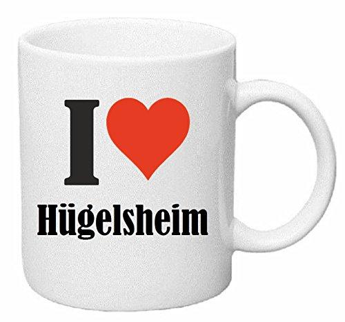 Reifen-Markt Tasse de Café Tasse à Thé … Coffee Mug I Love Hügelsheim Hauteur 9 cm de Diamètre 8 cm Volume 330 ML Le pour Leur Partenaire - Collègue - Amis
