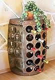 DanDiBo Weinregal Holz Weinfass 1486 Beistelltisch Schrank Fass aus Holz 72cm Weinbar Bar