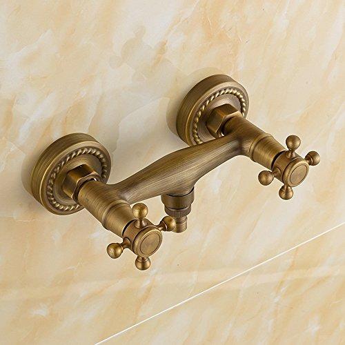 Grifo mezclador de pared de latón de lujo vintage para ducha