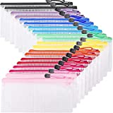 EOOUT 20pcs Zipper Pencil Pouch Plastic Zip...