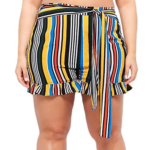 Pantalones Cortos para Damas Ouneed Pantalones Cortos para Damas Mode De Marca Moda De Verano Casuales Casuales Casilleros Casuales Pantalones Cortos De Verano Pantalones Cortos con Rayas De Raya Más