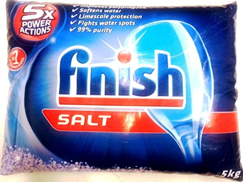 Finish Dishwasher Salt (11 Pounds) Recommended For Bosch, Or for a Dishwasher With a Water softener container