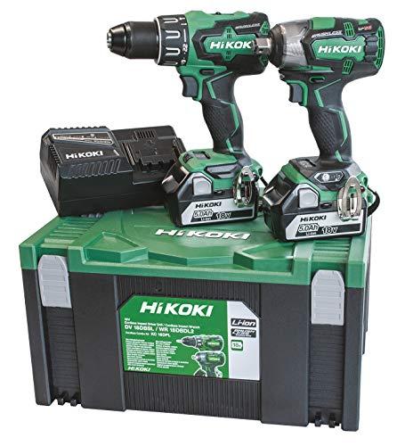 Hikoki KC18DPLWC Kit Dv18Dbsl + Wr18Dbdl2 + 2 Batterien 18V 5Ah