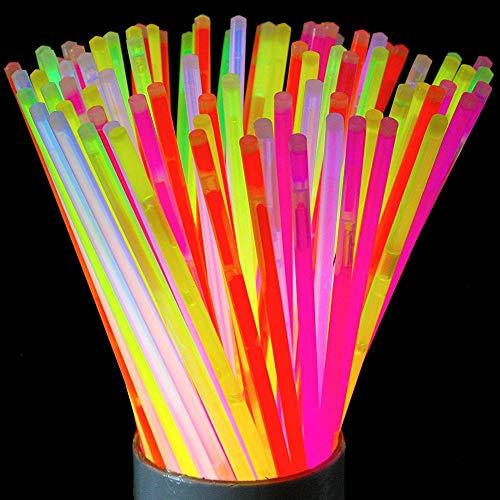 PARTY TIME DI1927 Lot de 50 Luminosticks, PE, Multicolore, 20,1 x 0,5 x 0,5 cm