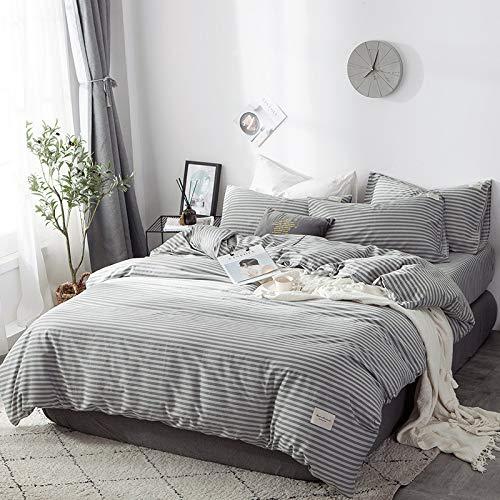 XIEPEI 2019 - Juego de 4 sábanas de algodón de Cuatro Piezas Estilo nórdico, sintético, Slow Life Cotton Woven Standard, Sheets: 245cm*265cm