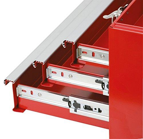 KS Tools 891.0003 Werkzeugtruhe mit 3 Schubladen-rot, L508xH255xB303mm - 3