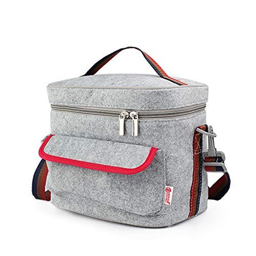 Streifen Lunchbox Tasche Isolierung Mittagessen-Filz Doppelte Isolierung, umweltfreundlicher, einfacher Mittagessen-Beutel, Reis Mittagessen-Beutel, beweglicher Mittagessen-Beutel dauerhaft
