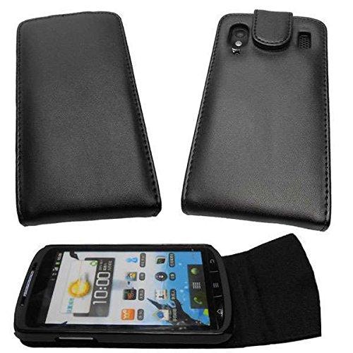 caseroxx Flip Cover & Bildschirmschutzfolie für Medion Life P4310 MD 98910, Set (Flip Cover in schwarz)