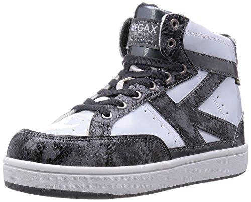 [キタ] 安全靴 作業靴 メガセーフティ エナメルトップ ハイカットタイプ MG-5600 ガンメタルグレー/ホワイト JP 27.0(27cm)