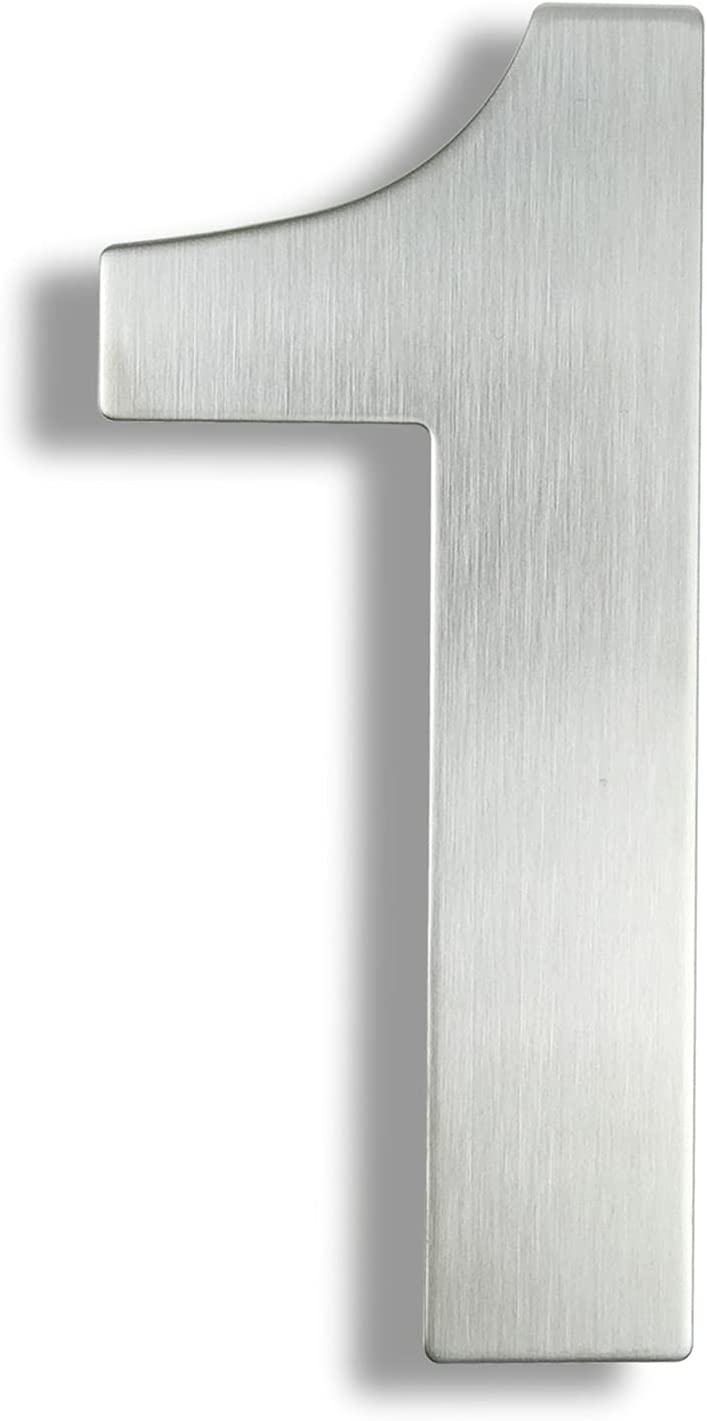 ALOMIN Over item handling ☆ 30 Ranking TOP19 cm House Number Stainless Sign Steel Address Outd #0-9