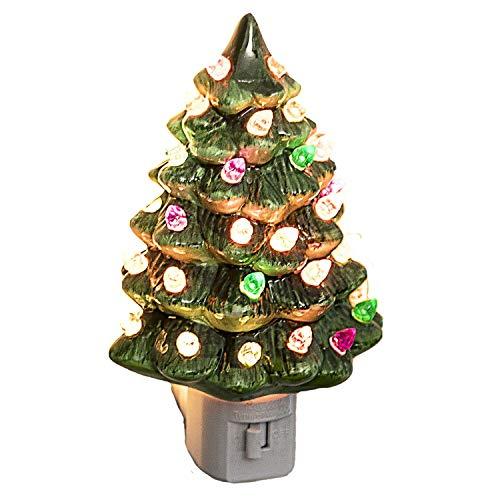 Decorative Ceramic Christmas Tree Night Light