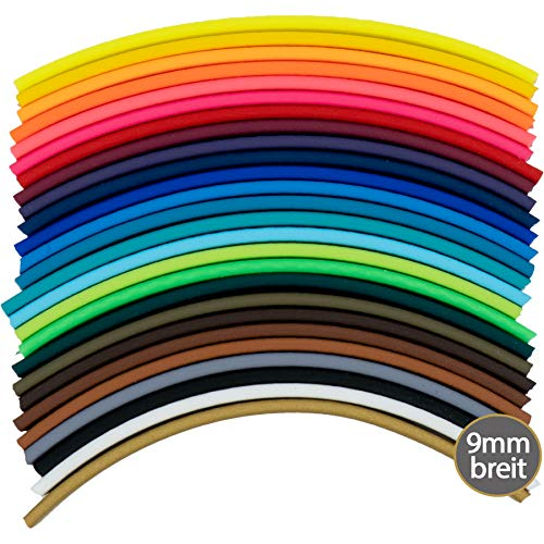 bio-leine Beta Biothane Meterware - 9mm breit | 2.5mm dick I schmutz- und wasserabweisend - bis zu 30m I 26 Farben auswählbar