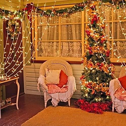 Tenda Luci LED 3 x 3 m, Tenda Luminosa Natale Esterno/Interno, Luci di Natale da Esterno con 8 Modalità di Illuminazione Natale Decorazioni Casa,Camera da Letto,Giardino