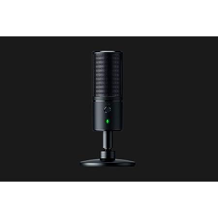 Razer Seiren EmoteMicrófono de condensador USB para transmisión, Micrófono para Streaming, Compacto con amortiguador, patrón de grabación supercardioide, LED Chroma, Negro
